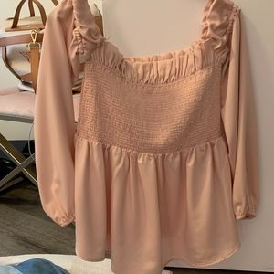 Silk Dusty Rose strapless top